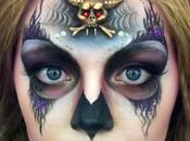 Halloween makeup: Sugar Skulls, calaveras todo color