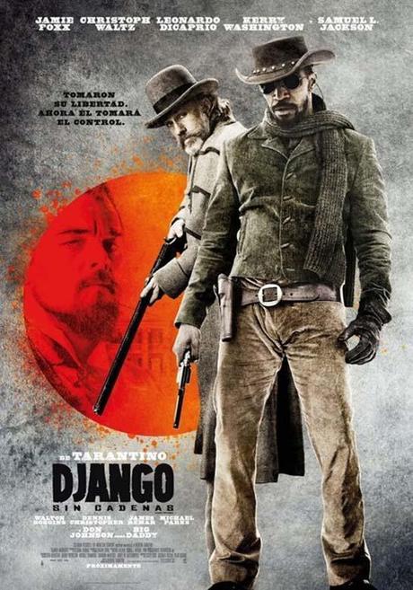 Cartel internacional para Django Desencadenado
