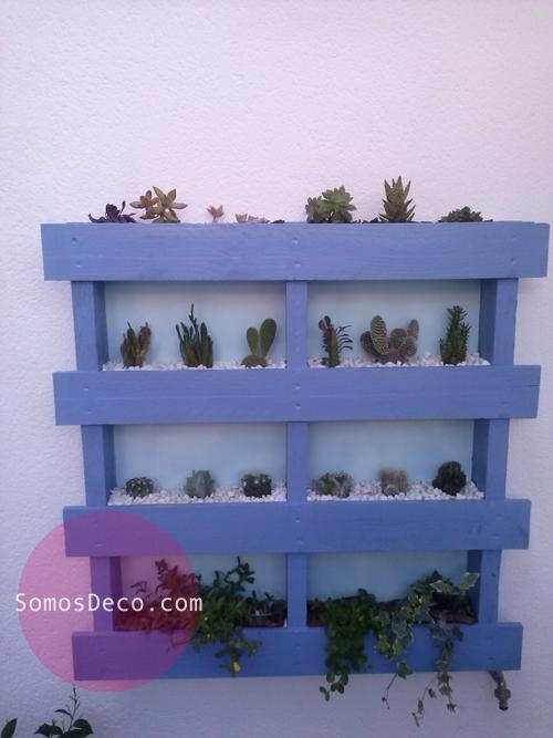Hacer un macetero invernadero con un palet paperblog for Macetero vertical pallet