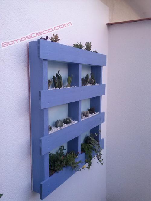 Hacer un macetero invernadero con un palet paperblog - Cuanto cuesta un palet de madera ...