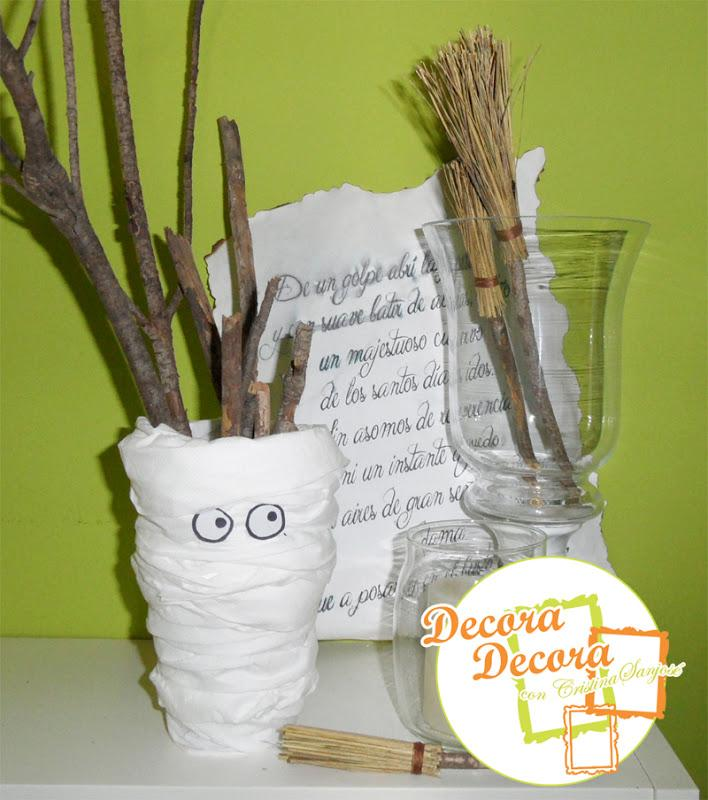 Decorar con papel envejecido en Halloween