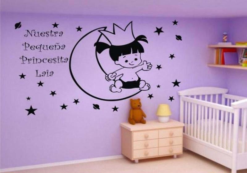 Decorar cuartos con manualidades vinilos infantiles leroy merlin - Papel pintado vinilo ...