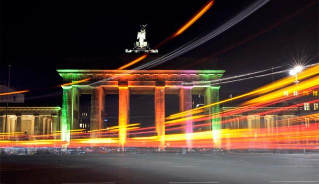 Puerta de Brandenburgo, uno de los símbolos de la ciudad alemana. | Afp
