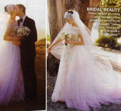 el vestido de novia de anne hathaway . más imágenes - paperblog