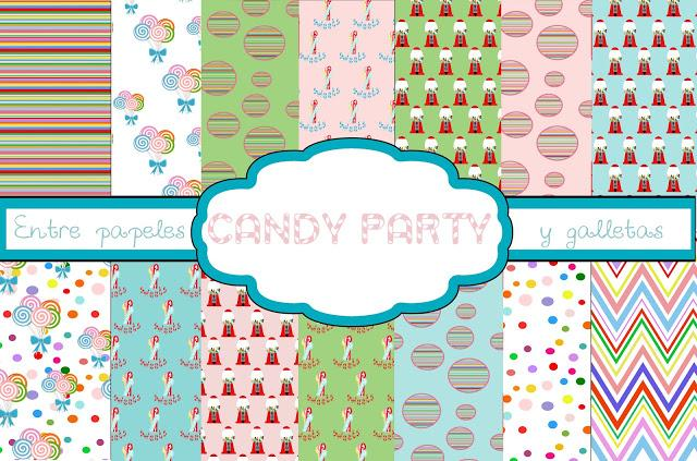 Papeles para imprimir candy party. candy party paper printables ...