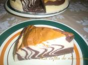 Tarta cebra queso chocolate