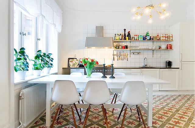 Una cocina vintage paperblog for Azulejo del comedor moderno