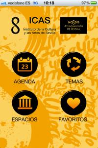 Agenda ICAS, aplicación movil para estar al dia sobre la cultura de Sevilla