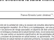 ¿Manejamos eficiencia salud mental atención primaria? León-Jiménez Cubas-Benavides