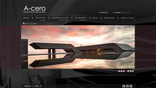 A cero lanza su nueva p gina web paperblog for Paginas web de arquitectura