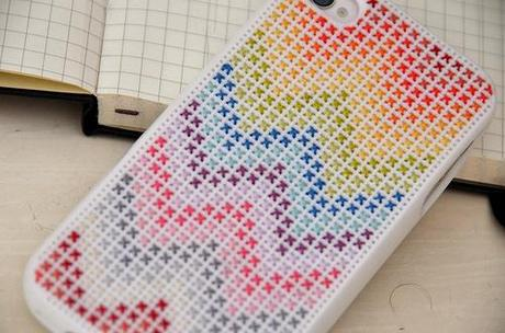 DIY funda iphone personalizada chevron colores