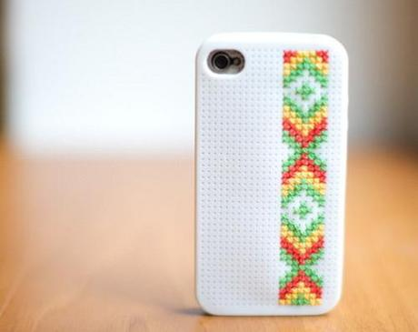 DIY iphone case cover cross stitch ideas