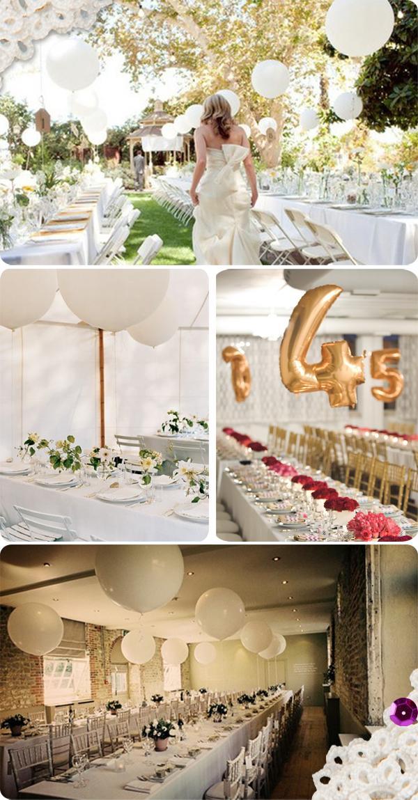 Ideas para bodas los globos paperblog for Arreglos con globos para boda en jardin