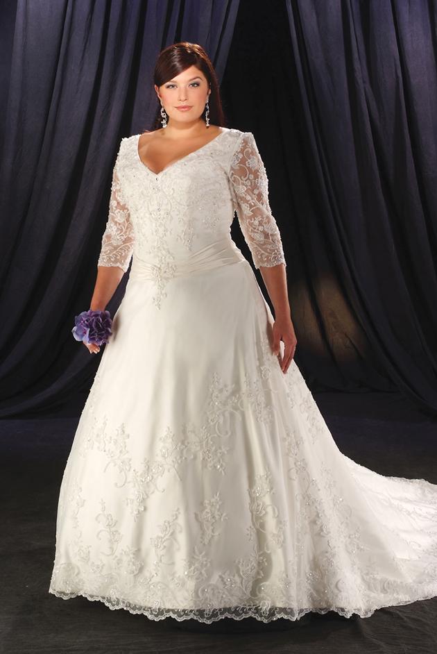 Fotos de vestidos de novias tallas plus paperblog for Taille plus mariage dresse