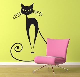 Decora tus paredes con plantillas de vinilo paperblog for Dibujos para decorar paredes