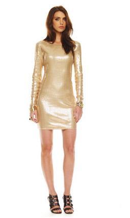 Vestido dorado Michael Kors