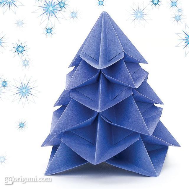 Origami Decoracion Navidad ~ Estos otros, de papel de seda, tambi?n podr?an quedar genial