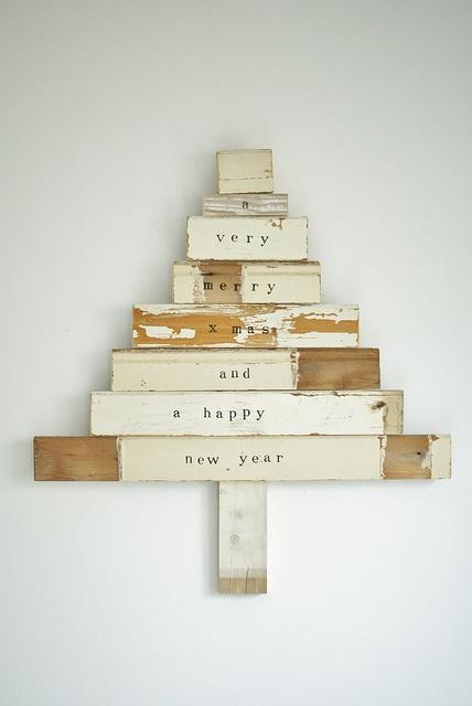 Deco-Navidad: 10 Árboles de Navidad de Madera