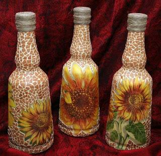 Botellas Decoradas Con Papel Periodico
