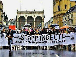 Protesta contra Indect en Munich