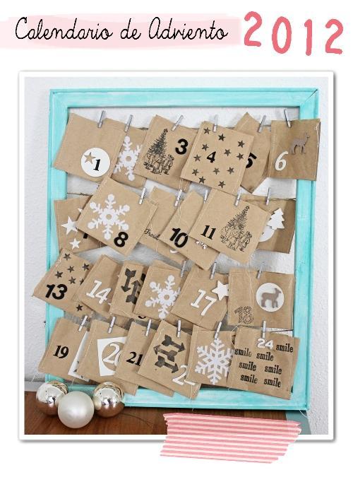 Diy navidad el calendario de adviento de celine paperblog - Calendario de adviento diy ...