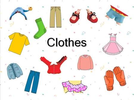 Prendas de vestir en ingles y español con dibujos - Imagui
