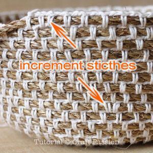 Cesta de cuerda y ganchillo paperblog - Cestas de ganchillo ...