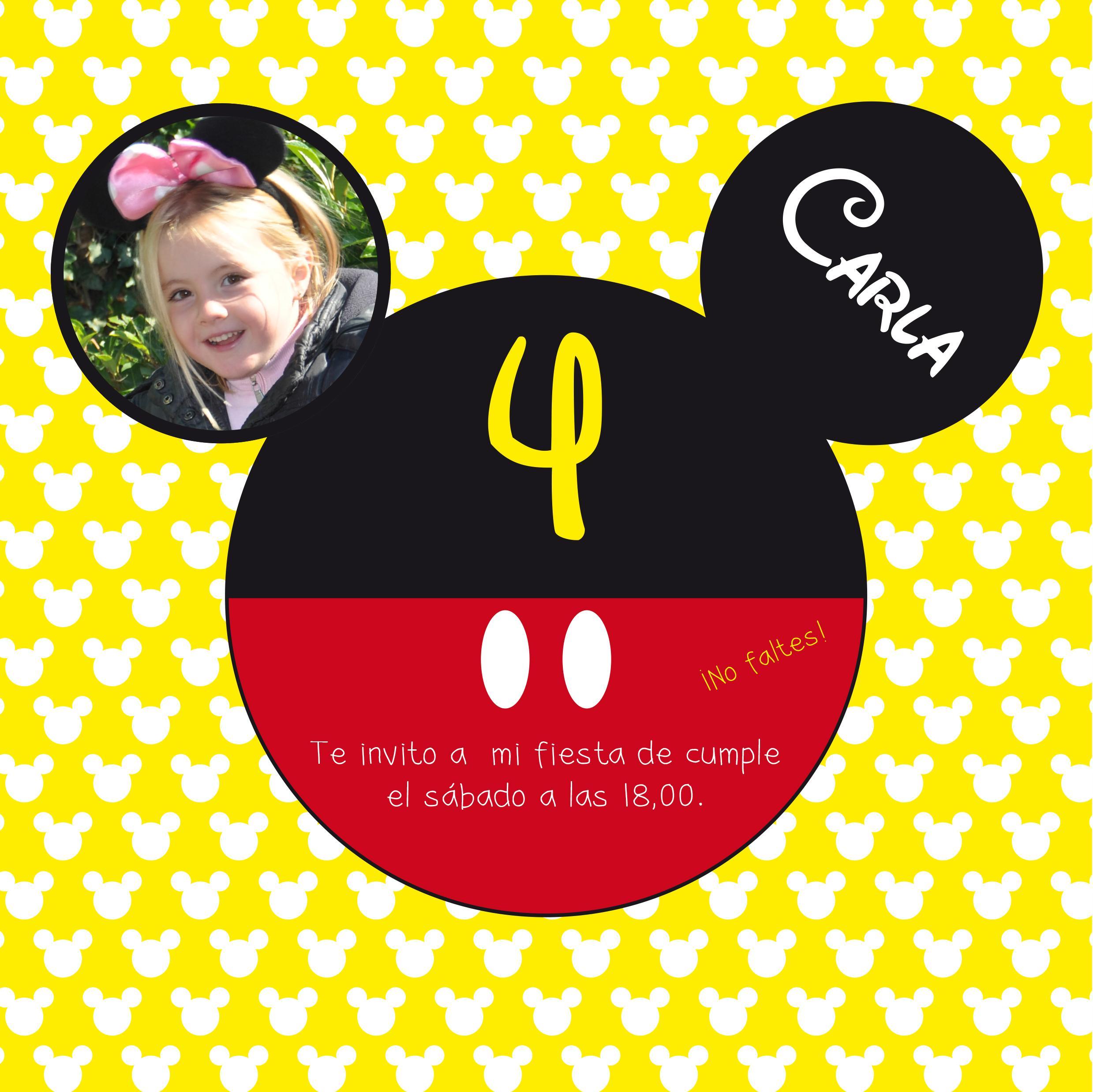 Cumple Anos De Mickey Mouse