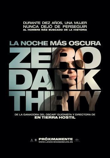 """Jessica Chastain, protagonista del póster de """"La noche más oscura (Zero Dark Thirty)"""""""