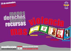 Manifestaciones 25 de Noviembre – Sevilla – 2012