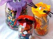 Como decorar frascos cristal tapas animalitos