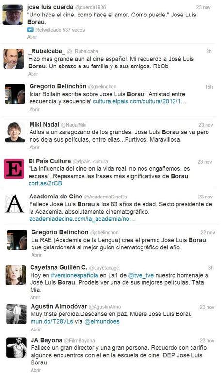 El #adiós a José Luis Borau y Tony Leblanc
