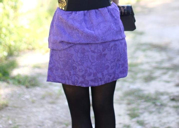 Purple dress fashion blogger Mónica Sors