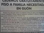 «Cedemos gratuitamente piso familia necesitada Gijón»
