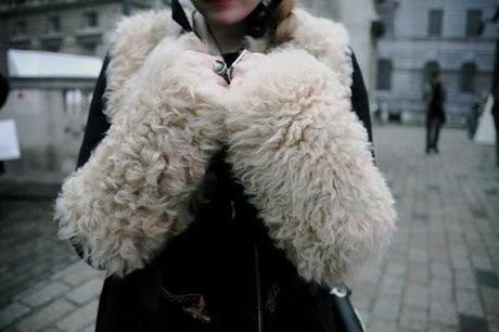 Fur Coat Street Style