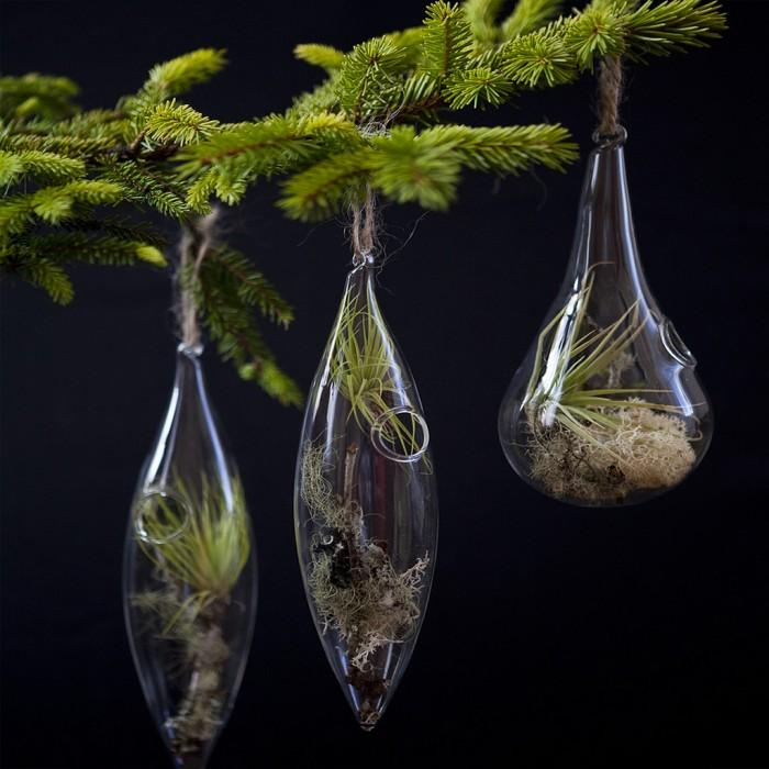 adornos para el rbol de navidad con plantas