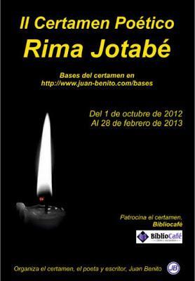 II Certamen Poético, Rima Jotabé