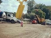 Boulevard mayo cuando ponían concreto hidráulico