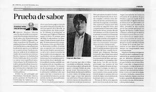 Prueba de sabor, de Fulgencio Martínez, por Francisco Javier Díez de Revenga