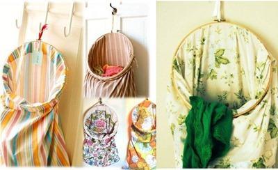 Bolsa para la ropa sucia hecha con una funda, sabánas viejas, que hacer con las s- de almohada