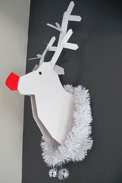 Decoraci n de navidad para hacer t mismo reno de cart n - Adornos para la casa con reciclaje ...
