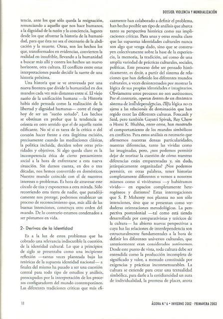 Mundialización y conflictos civilizados