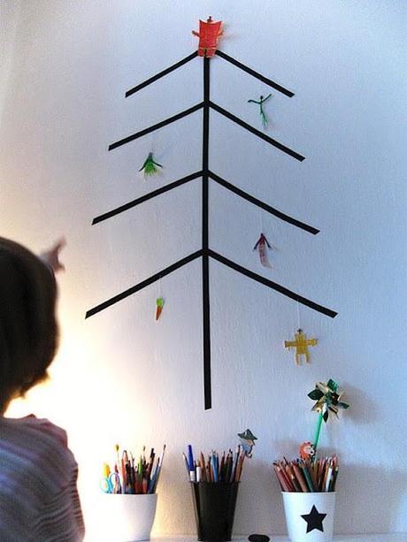 Deco-Navidad: 6 árboles de Navidad de Washitape