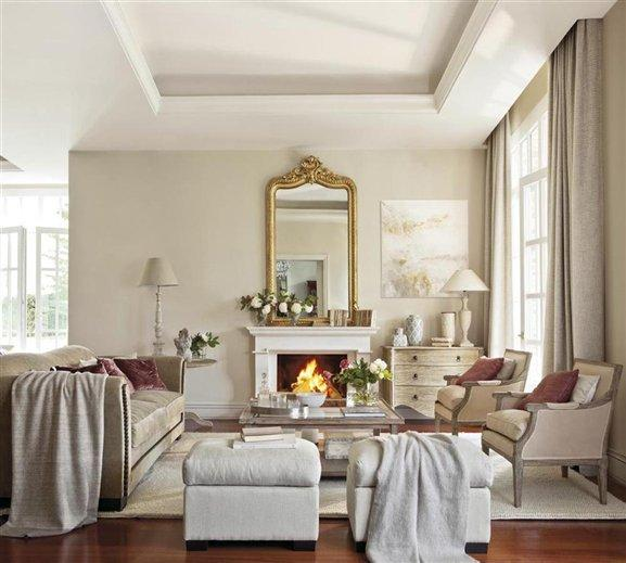 Salones con calor de hogar paperblog for Decoracion casa clasica moderna