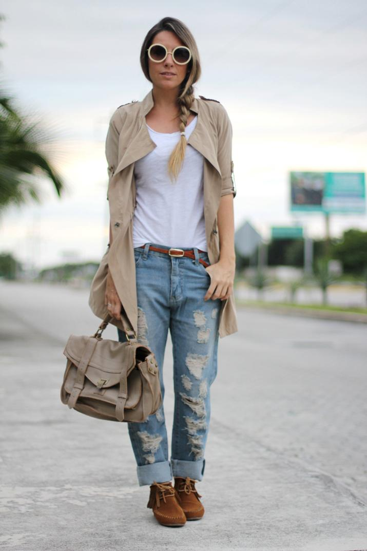 DENIM + BEIGE