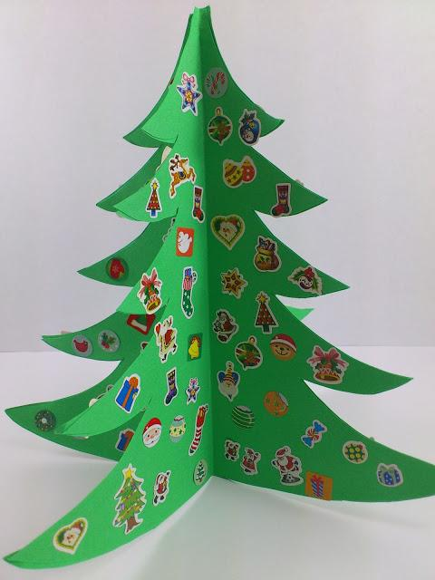 Rbol de navidad christmas tree paperblog - Arbol navidad cartulina ...