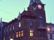 noche Cracovia imágenes