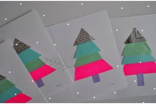 Postales de Navidad Recicladas