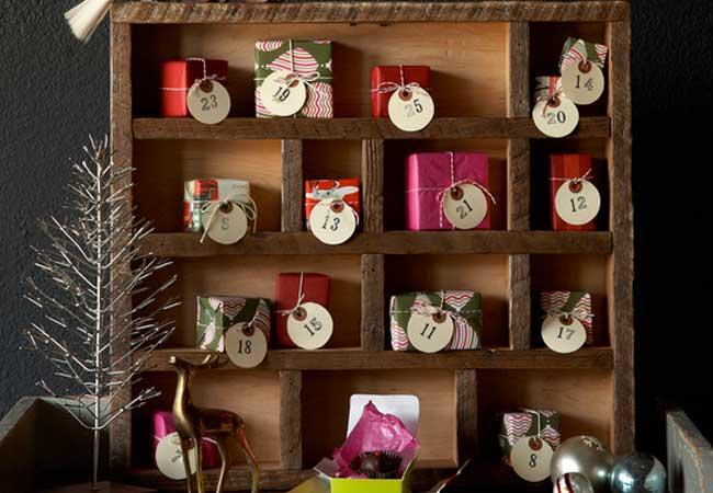 Calendario de adviento diy paperblog - Calendario adviento madera ...