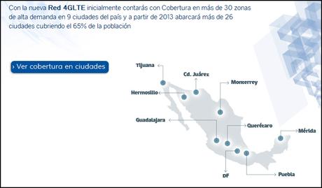 Cobertura LTE (4G) de Telcel en México